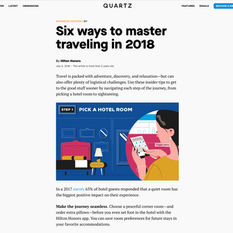 Quartz x Hilton Honors - Six Ways to Master Traveling in 2018