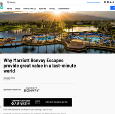 The Points Guy x Marriott Bonvoy - Why Marriott Bonvoy Escapes Provide Great Value