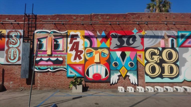 Alex Yanes mural on Abbot Kinney