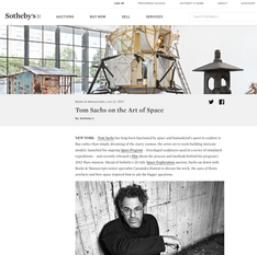Sotheby's - Tom Sachs on the Art of Space