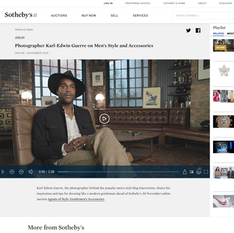 Sotheby's - Photographer Karl-Edwin Guerre on Men's Style (Video)