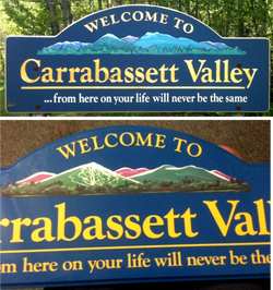 Welcome to Carrabassett Valley Sign