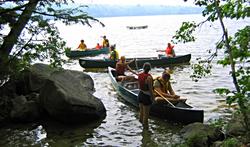 Canoeing on McGrath Pond