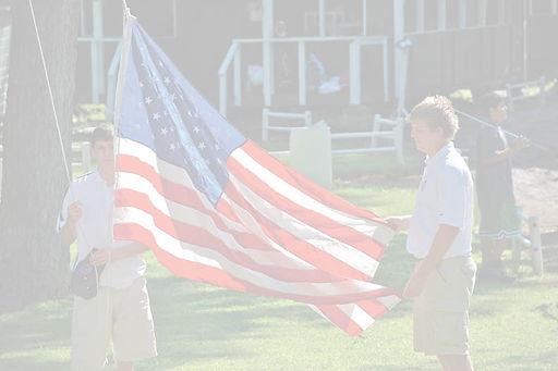 US Flag maine summer camp golf camp tennis camp veteran family camp new england summer camp family camp