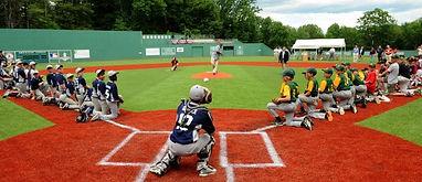 Baseball fiield, maine's fenway, baseball camp, softball camp, fenway replica, cal ripken  foundation, harold alfond, turf field, play ball, little league