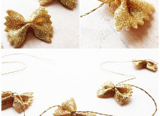 Craft Afternoons: Glittery Bowtie Pasta Garland!
