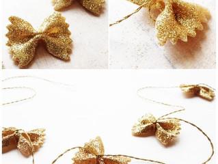 Craft Afternoons: Glittery Bowtie Pasta Garland!