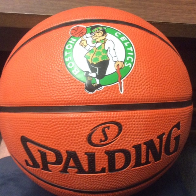 Celtics Ball signed by Patriot