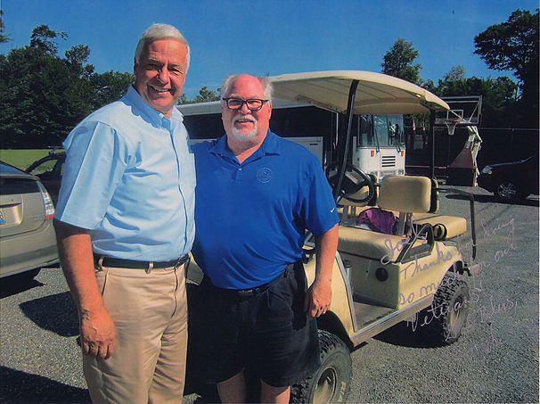 US Congressman Mike Michaud Joel Lavenson support national veteran family camp family golf camp
