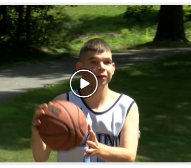 Kristian Joliat Shoots Hoops for the Unified Champion Club