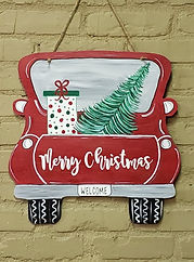 Truck Door Hanger - Christms