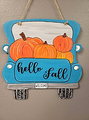 Wooden Truck - Hello Fall