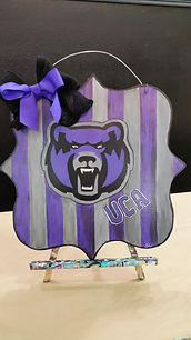 UCA Striped Bear Door Hanger