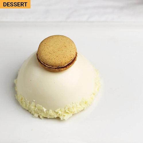 Passionfruit Mango White Choc Mousse Dome