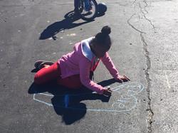 The kids loved the sidewalk chalk