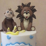 Lion and monkey toppers