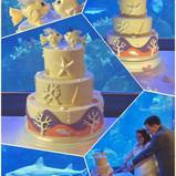 Aquarium wedding cake