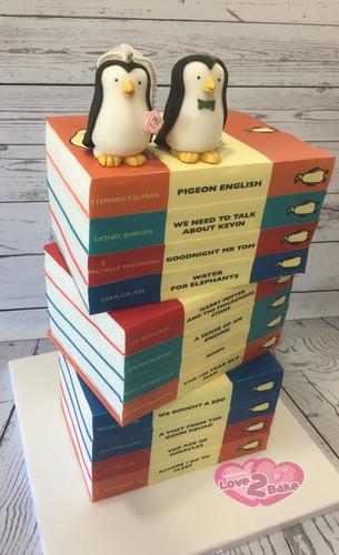 Penguin Books Wedding Cake by Love2bake