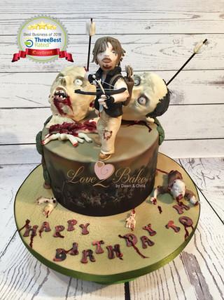 Walking Dead Cake by Love2bake