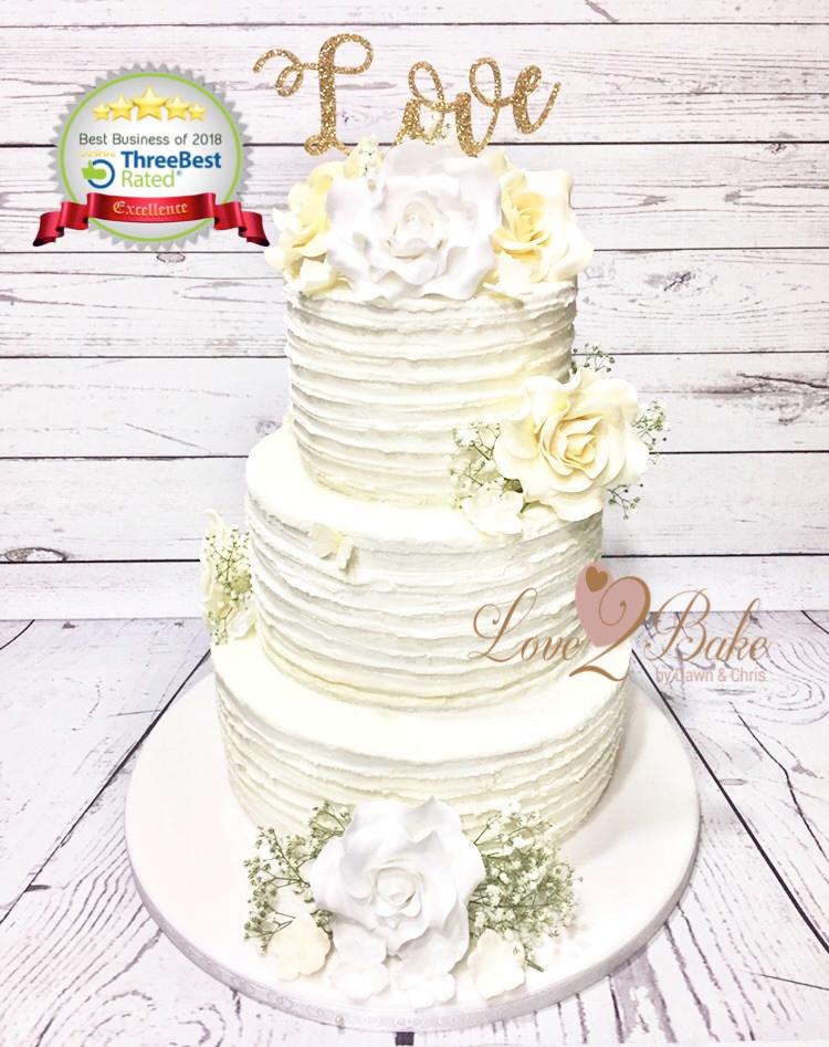 Buttercream Wedding Cake by Love2bake