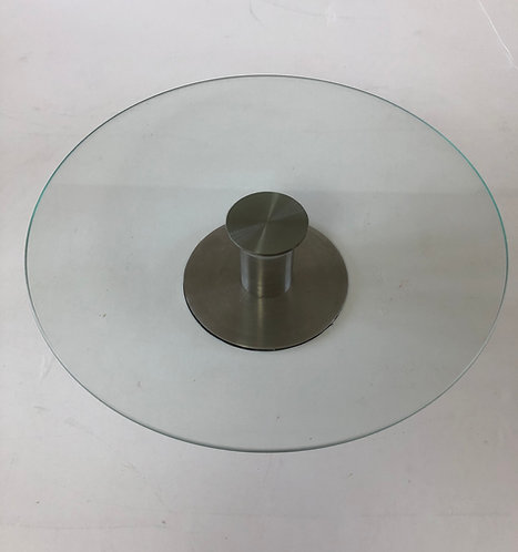 "For Hire Price Only - Glass Cake Stand 11.75"" x 2.5"" height"
