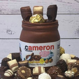 Chocolate Nutella Jar topper with chocolates inside