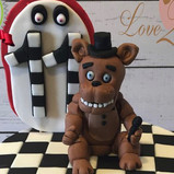 5 nights at Freddy's cake topper