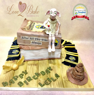 Harry Potter Book Cake by Love2bake