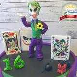 Batman Joker cake topper