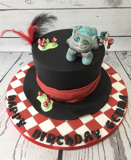 Cheshire Cat Hat Cake by Love2bake