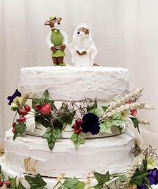 Robin Hood & Maid Marion Wedding Cake by Love2bake