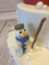 Edible Snowman Cake Topper