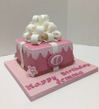 Present Box Cake by Love2bake