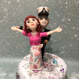 Captain and (Kate Winslet style) cake toppers