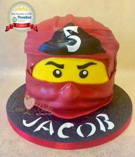 Ninjago Lego Head Cake by Love2bake