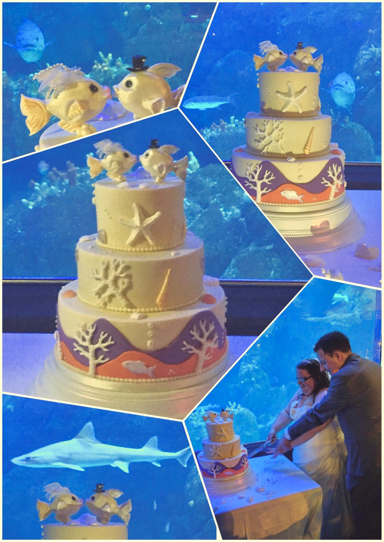 Fish Aquarium Wedding Cake by Love2bake