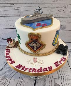 Life Cake - HMS Eagle, bird watching, etc