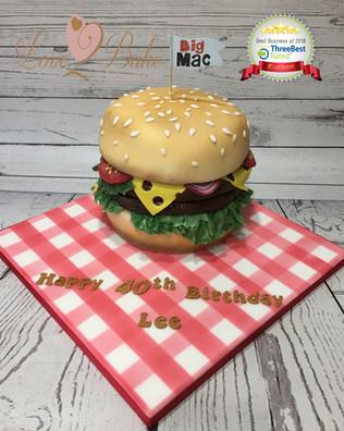 Burger Cake by Love2bake
