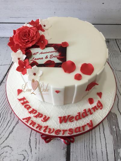 Ruby Anniversary Cake by Love2bake