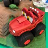 McQueen Monster Truck Cake Topper