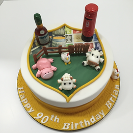 Hobby Cake - Life Cake - Farm toppers, Postman, Brandy