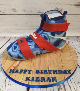 Basketball  Boot Cake by Love2bake