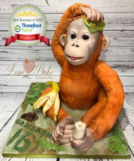 Orangutan 3D Cake