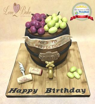 Wine Barrel Cake by Love2Bake