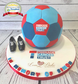 Football Cake for Teenage Cancer Trust