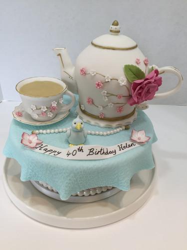 Teapot Cake by Love2bake