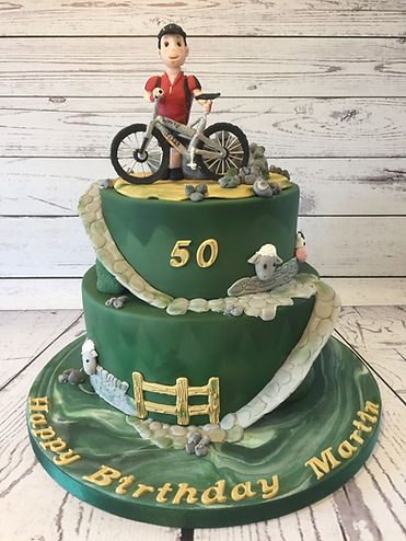 Bycicle Countryside cake