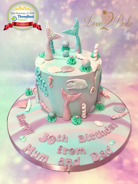 Mermaid Cake by Love2bake