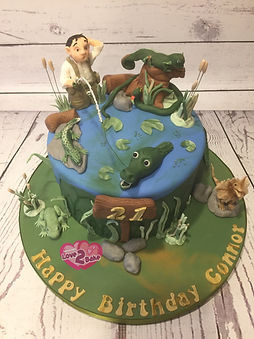 Swamp Cake - Reptile cake - Fisherman cake