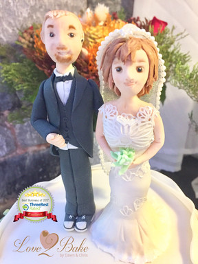 Wedding Cake Toppers by Love2bake